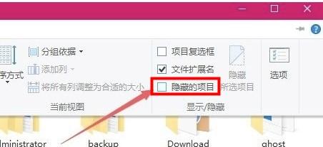Win10取消隐藏文件夹设置方法